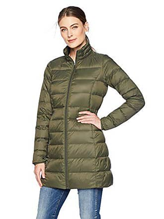 Amazon Essentials Womens Lightweight Water-Resistant Packable Down Coat, Olive Depths, X-Small
