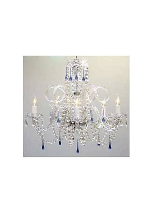 Gallery T40-117 5 Light 1 Tier Crystal Candle Style Chandelier with