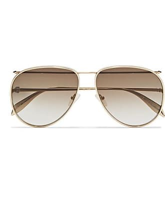 429ae865ab8 Alexander McQueen Aviator-style Gold-tone Sunglasses - one size