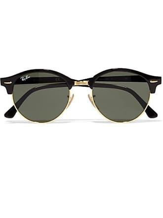 Ray-Ban Clubround Acetate And Gold-tone Sunglasses - Black