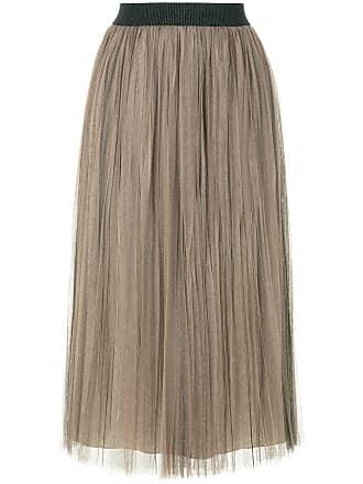 Fabiana Filippi pleated tulle skirt - Brown