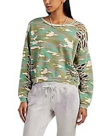 NSF Womens Farah Distressed Camouflage Cotton Sweatshirt - Pink Size XS