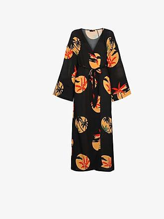Onia Meika palm print belted maxi dress