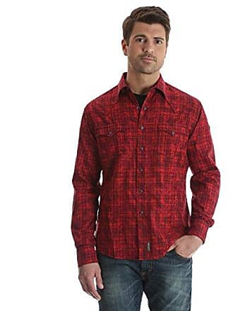 a2ecf0f1bff Wrangler Mens Retro Two Pocket Long Sleeve Snap Shirt