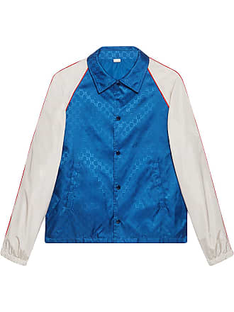 68c48d8d8e6c Gucci GG jacquard nylon jacket - Blue