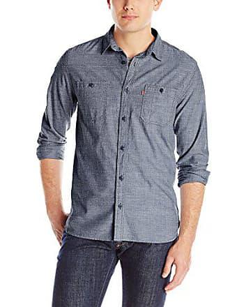 Levi's Mens Marty Chambray Long Sleeve Shirt, Dress Blues, XX-Large