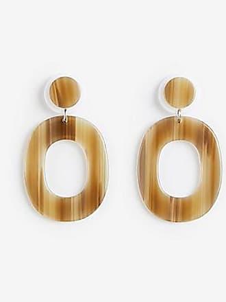 ANN TAYLOR Acetate Oval Drop Earrings