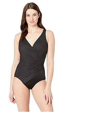 8e6db577534 Miraclesuit Solid DD-Cup Oceanus One-Piece (Black) Womens Swimsuits One  Piece