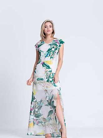Clara Arruda Vestido Clara Arruda Detalhe Costa Estampado 50323 - G - Floral Branco