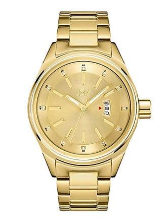 Zales Mens JBW Rook 1/8 CT. T.w. Diamond 18K Gold Plate Watch (Model: J6287L)