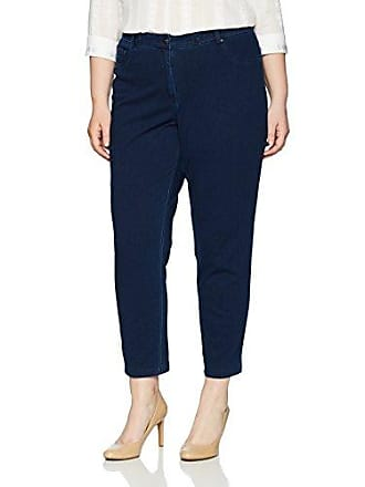 Ruby Rd. Womens Plus-Size Fly Front Knitted Indigo Twill Pant, 22W