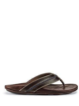a8bd12783617 Olukai® Leather Sandals − Sale  at USD  40.00+