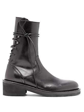 87cfb517e876e Ann Demeulemeester Lace Up Back Leather Ankle Boots - Womens - Black