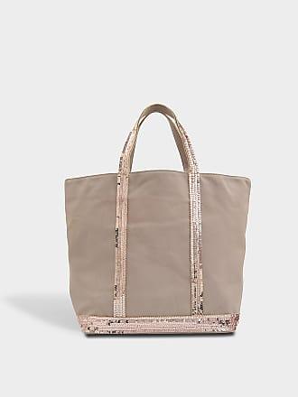 4923844f20c Vanessa Bruno Medium Linen and Glitter Tote Bag in Powder Cotton