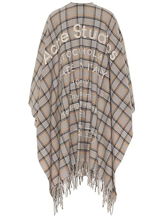 Acne Studios Cassiar checked wool cape