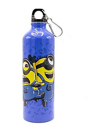 Universal Works Silver Buffalo DS0089AL Despicable Me Minions Normal is Boring Aluminum Water Bottle with Carabineer, 25-oz
