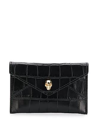 Alexander McQueen skull motif envelope wallet - Black