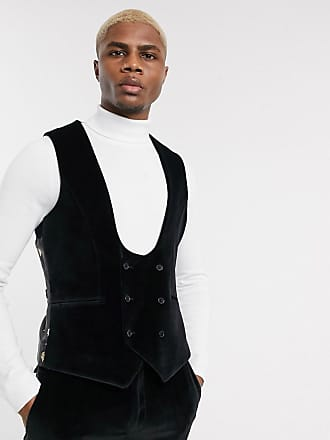 Twisted Tailor Gilet super skinny in velluto nero