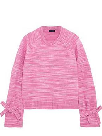 3b71676119188a J.crew J.crew Woman Bow-detailed Marled Knitted Sweater Pink Size XXS