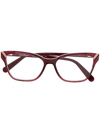 Salvatore Ferragamo Armação de óculos retangular - Rosa