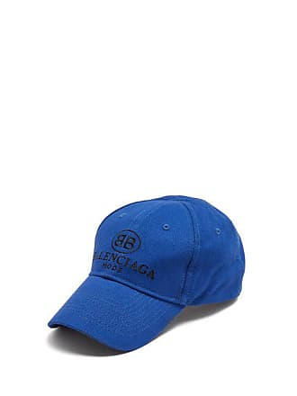 f1830750 Balenciaga Logo Embroidered Cotton Cap - Mens - Blue