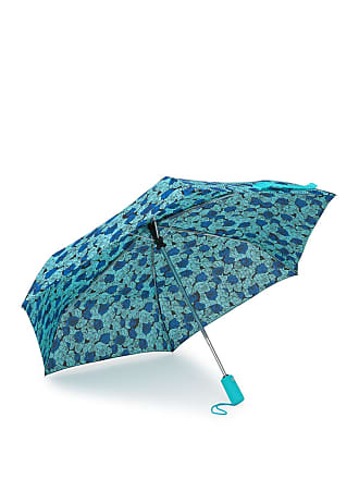Betsey Johnson Floral & Polkadot Auto Open & Close Umbrella