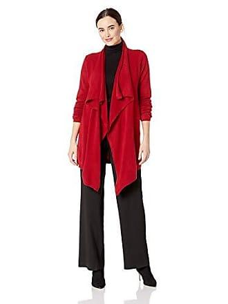 Karen Kane Womens Drape Front Cardigan, RED, Extra Large