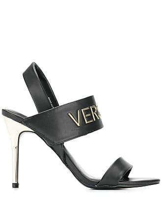 ba66138eadcb Versace Jeans Couture branded heel sandals - Black