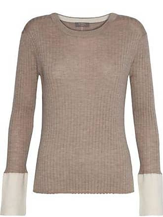 N.Peal N.peal Woman Ribbed Cashmere Sweater Mushroom Size XL