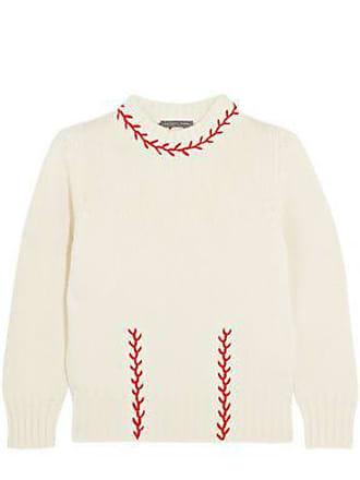 Alexander McQueen Alexander Mcqueen Woman Embroidered Cashmere Sweater Cream Size M