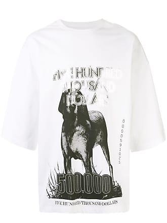 Yoshiokubo oversized GREYHOUND T-shirt - White