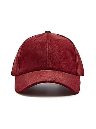21 Men Faux Suede Dad Cap at Forever 21 Burgundy