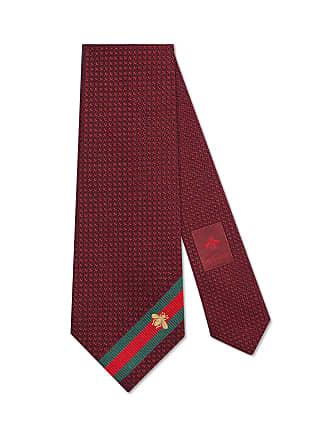 Gucci Cravate en soie avec détail ruban web abeille 850160a0c2e