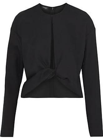 Giambattista Valli Giambattista Valli Woman Twist-front Cutout Crepe Top Black Size 42