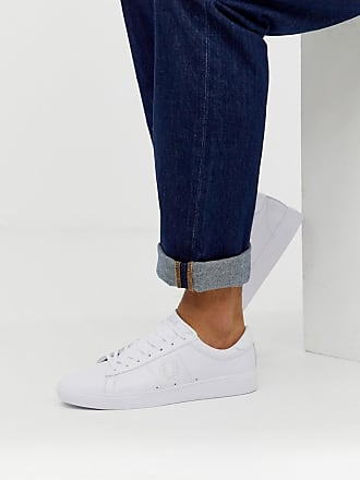 Fred Perry Spencer leather tonal in white - White