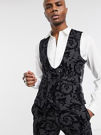 Twisted Tailor Gilet floccato grigio scuro