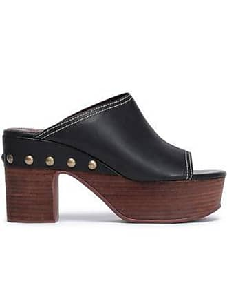 See By Chloé See By Chloé Woman Studded Leather Platform Mules Black Size 37