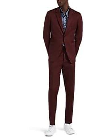 Paul Smith Mens Kensington Cotton Twill Two-Button Suit - Red Size 42 EU