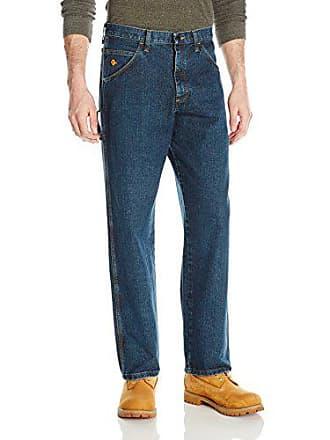 Wrangler Mens Riggs Workwear Flame Resistant Carpenter Jean, Indigo 32x34
