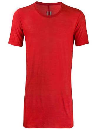 Rick Owens long line T-shirt - Vermelho