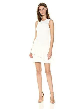 Parker Womens Paulette Sleeveless Knit Short Dress, Ivory, L