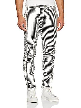 G-Star Mens 5622 Elwood X25 Jeans by Pharrell Williams in Hickory, Milk/Black Stripe, 30x32