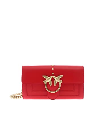 Pinko Red Bloch Wallet shoulder bag