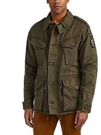 1e788a6f6b Ralph Lauren Purple Label Mens Embroidered Cotton-Linen Field Jacket -  Green Size S