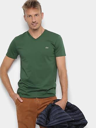 fc7f6f4033a Lacoste Camiseta Lacoste Gola V Regular Fit Masculina - Masculino