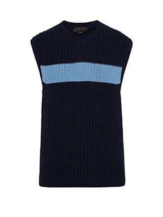 Stella McCartney Stella Mccartney - Sleeveless Cashmere And Wool Blend Sweater - Mens - Navy