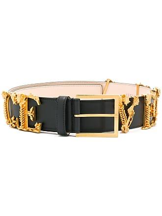 Versace logo letter belt - Black