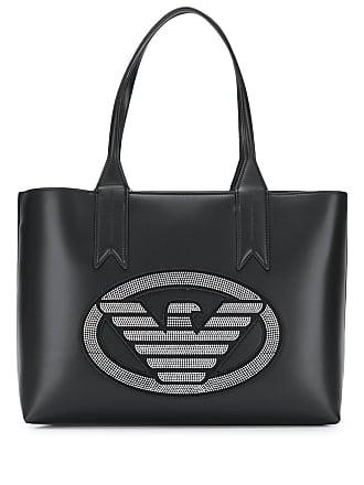 Emporio Armani studded logo shopper tote - Black 4ce63f08f669e