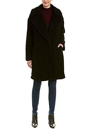 Kendall + Kylie Womens Single Breasted Coat, Black, Large