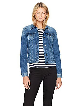 A|X Armani Exchange Womens Denim Jacket with Two Breast Pockets and Snap Buttons, Indigo, L